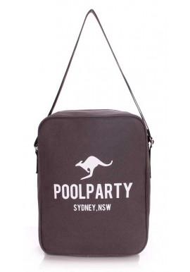 Фото Мужская сумка через плечо Poolparty Pool-18 Grey