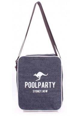 Фото Мужская сумка через плечо Poolparty Pool-18 Jeans