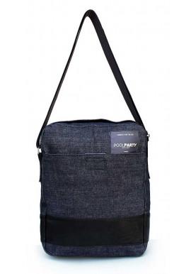Фото Мужская сумка на плечо Poolparty Pool94 Black Blue Jeans
