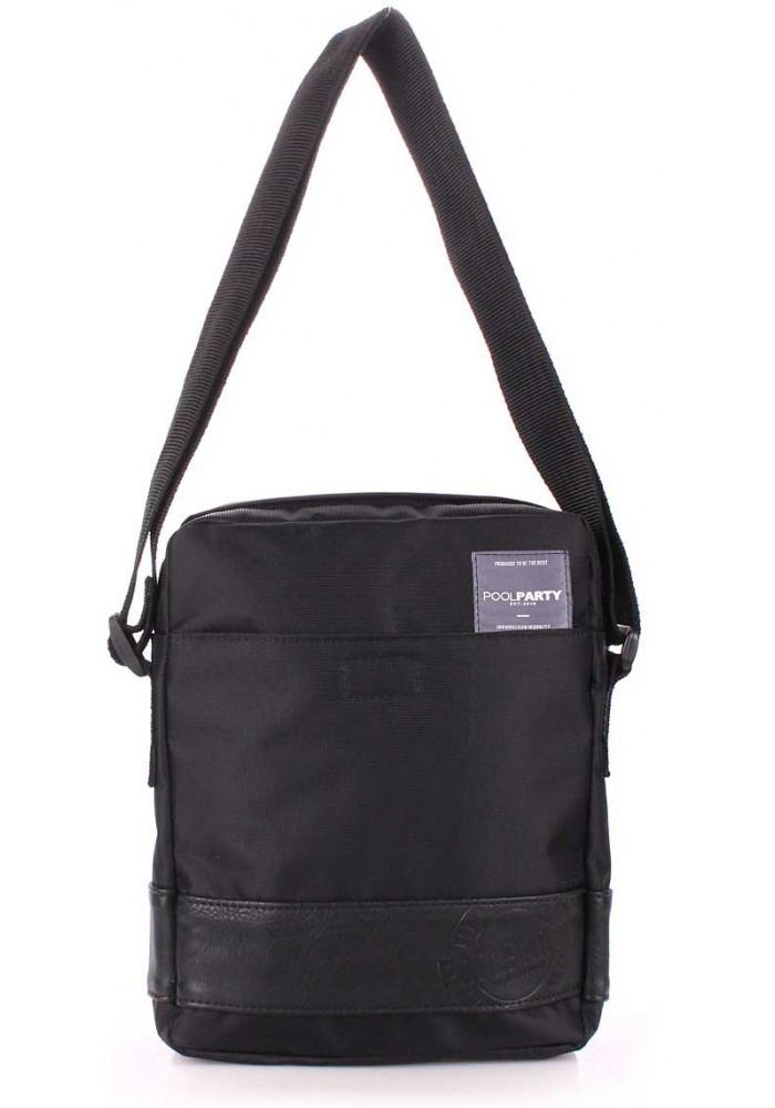 Мужская сумка на плечо Poolparty Oxford Black
