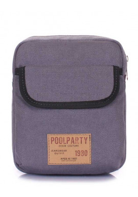 Фото Мужская сумка на плечо Poolparty Extreme Grey