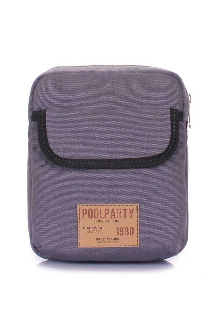 Мужская сумка на плечо Poolparty Extreme Grey