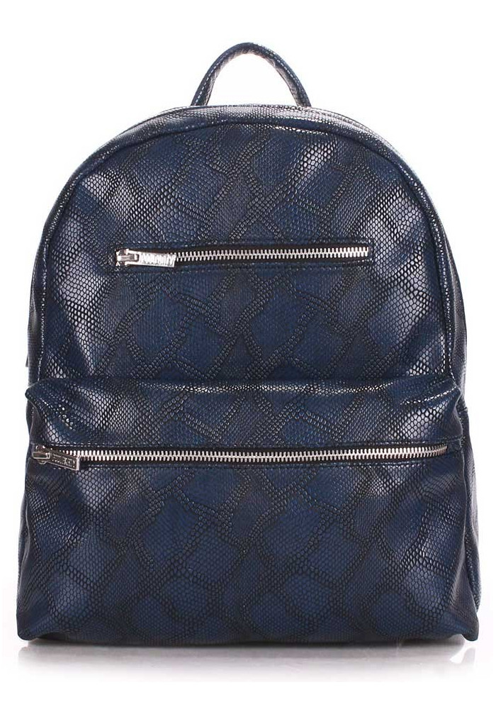 Женский рюкзак Poolparty Mini Bckpck Snake Darkblue