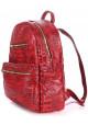 Женский кожаный рюкзак Poolparty Mini Bckpck Leather Croco Red, фото №2 - интернет магазин stunner.com.ua