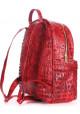 Женский кожаный рюкзак Poolparty Mini Bckpck Leather Croco Red, фото №3 - интернет магазин stunner.com.ua