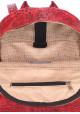 Женский кожаный рюкзак Poolparty Mini Bckpck Leather Croco Red, фото №4 - интернет магазин stunner.com.ua