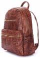 Женский кожаный рюкзак Poolparty Mini Bckpck Leather Croco Brown, фото №2 - интернет магазин stunner.com.ua