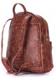 Женский кожаный рюкзак Poolparty Mini Bckpck Leather Croco Brown, фото №3 - интернет магазин stunner.com.ua