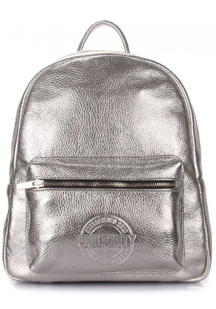 Женский рюкзак Poolparty XS Bckpck Leather Silver