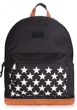Фото Женский рюкзак Poolparty Backpack Stars Black
