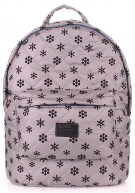 Фото Женский рюкзак Poolparty Backpack Snowflakes Grey