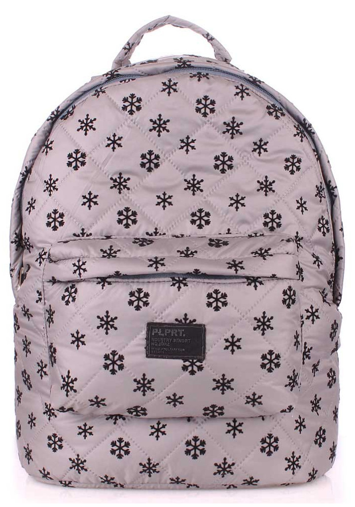 Женский рюкзак Poolparty Backpack Snowflakes Grey