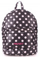 Женский рюкзак Poolparty Backpack Theone Black Dots