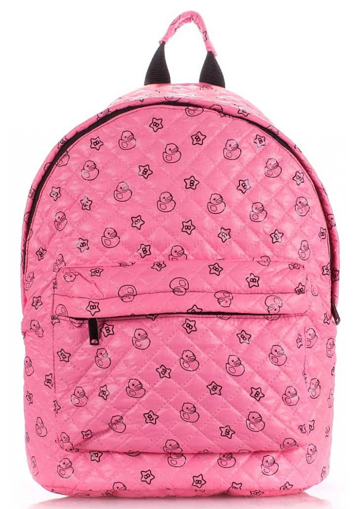 Женский рюкзак с уточками Poolparty Backpack Theon Pink Ducks