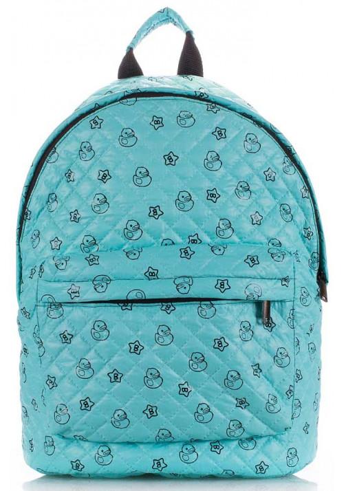 Женский рюкзак с уточками Poolparty Backpack Theon Blue Ducks