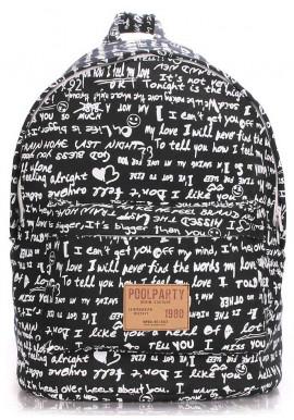 Фото Женский рюкзак с уточками Poolparty Backpack Signature Black
