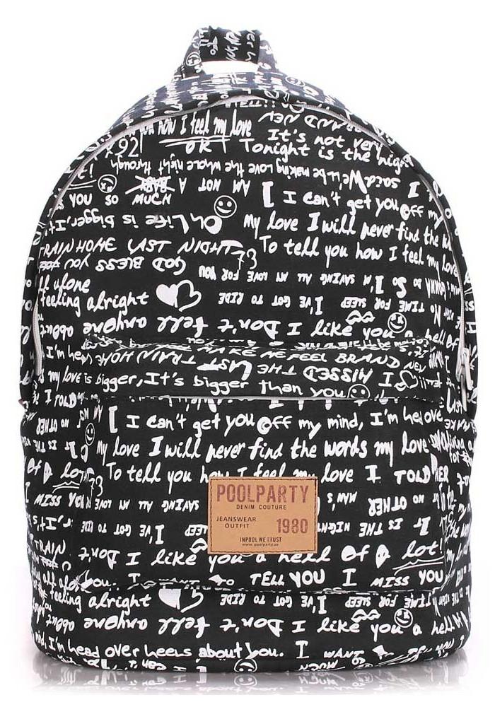 Женский рюкзак с уточками Poolparty Backpack Signature Black