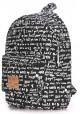 Женский рюкзак с уточками Poolparty Backpack Signature Black, фото №2 - интернет магазин stunner.com.ua
