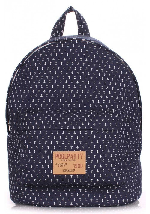 Женский рюкзак Poolparty Backpack Anchor Darkblue