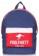 Молодежный рюкзак Poolparty Backpack Darkblue Red White