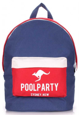 Фото Молодежный рюкзак Poolparty Backpack Darkblue Red White