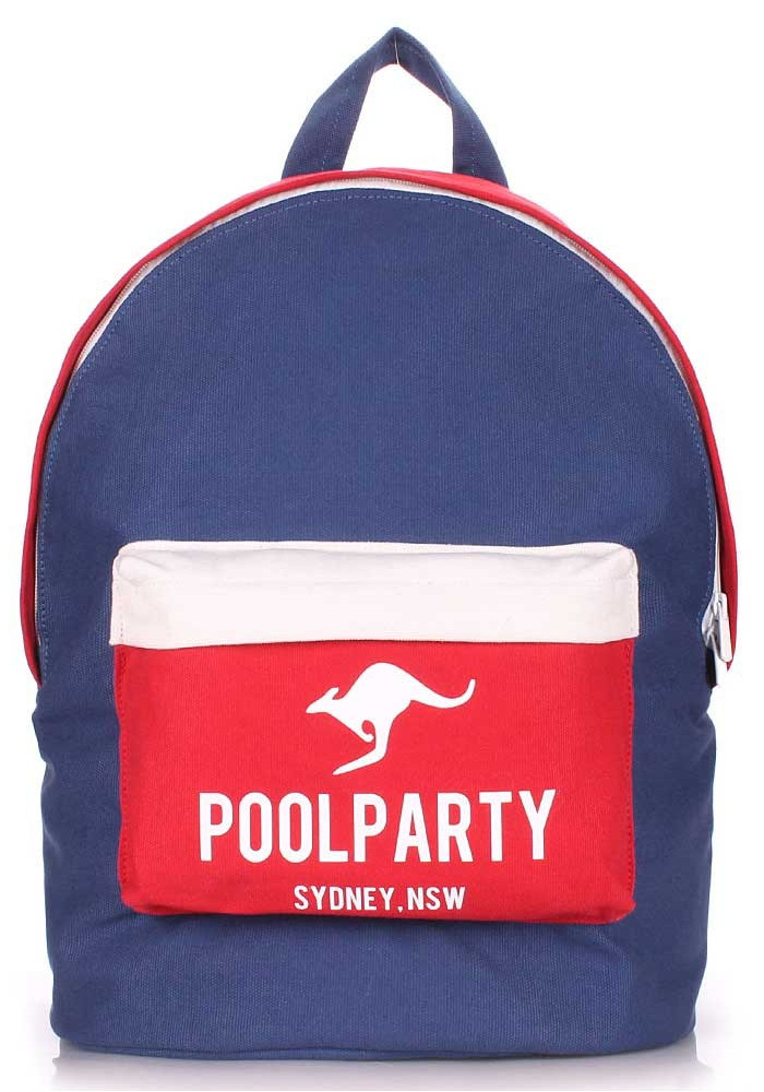 Молодежный рюкзак Poolparty Backpack Darkblue Red White