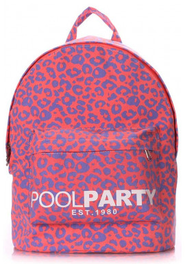 Фото Молодежный рюкзак Poolparty Backpack Leo Pink
