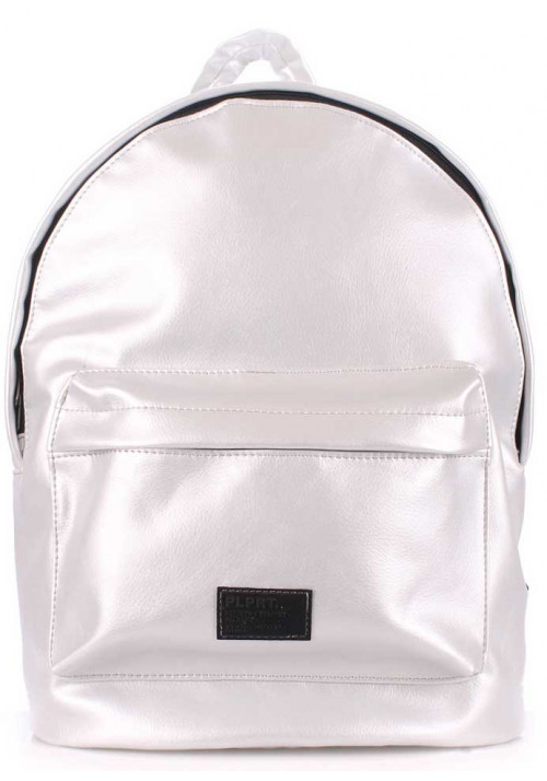 Молодежный рюкзак Poolparty Backpack PU Lightsilver