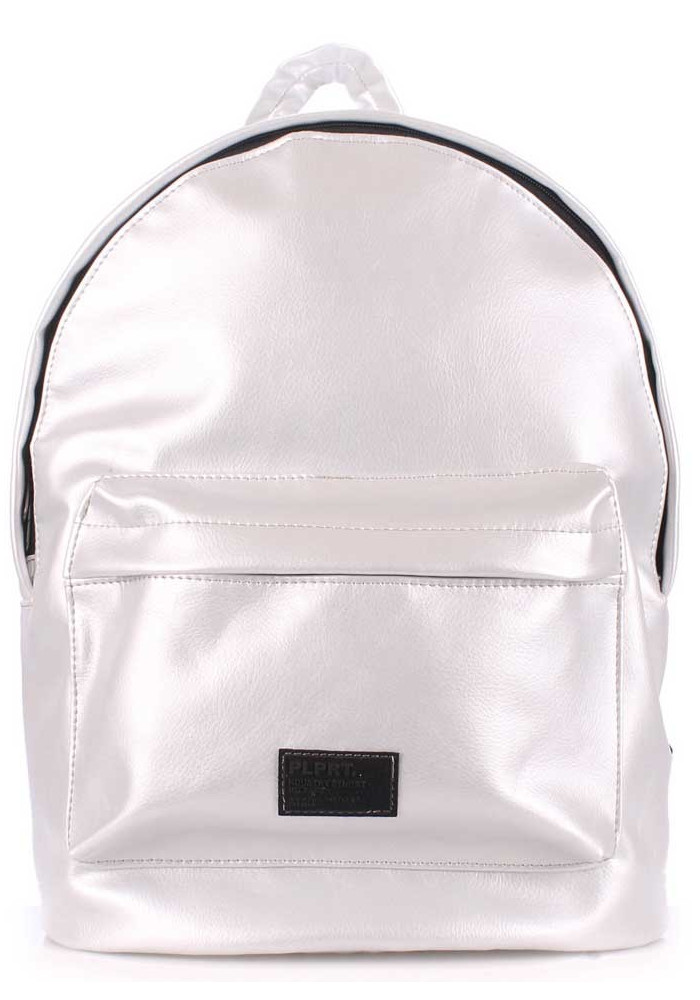Молодежный рюкзак Poolparty Backpack PU Lightsilver