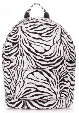 Фото Молодежный рюкзак Poolparty Backpack PU Zebra