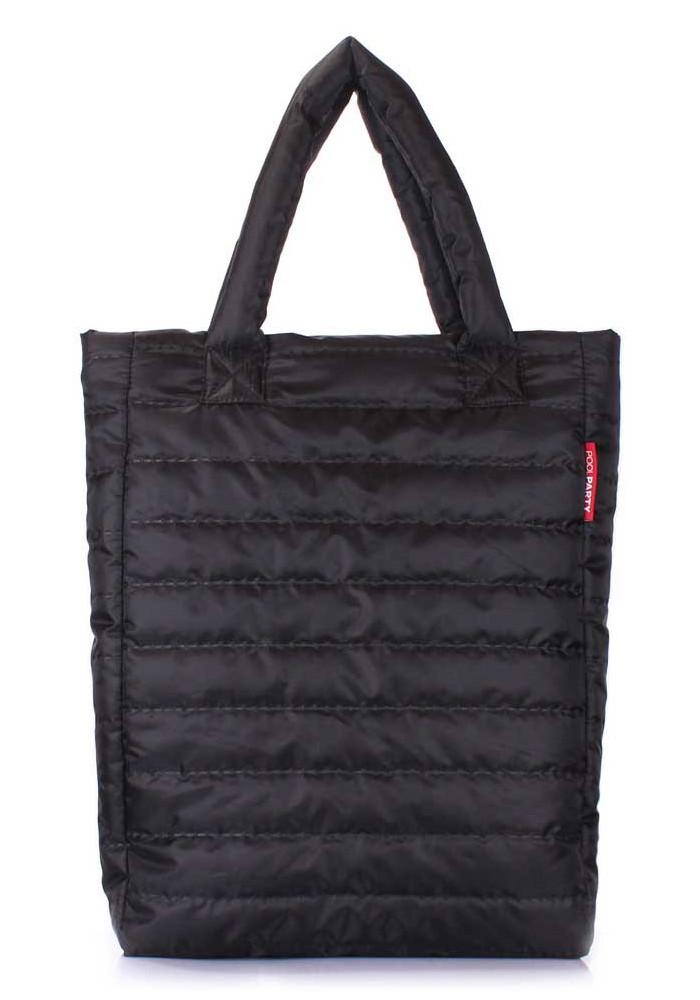 Сумка женская из ткани дутая Poolparty NS3 Black New