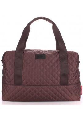 Фото Большая сумка женская из текстиля Poolparty Swag Brown