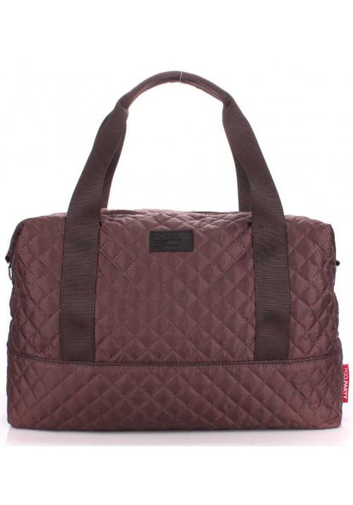 Большая сумка женская из текстиля Poolparty Swag Brown