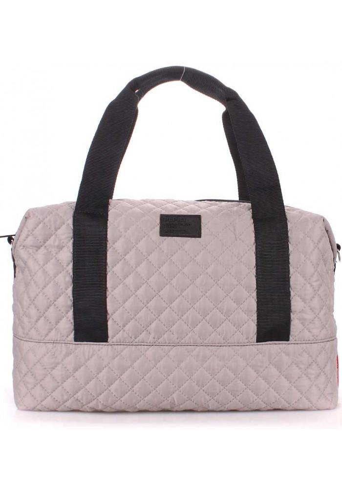 Большая сумка женская из текстиля Poolparty Swag Grey