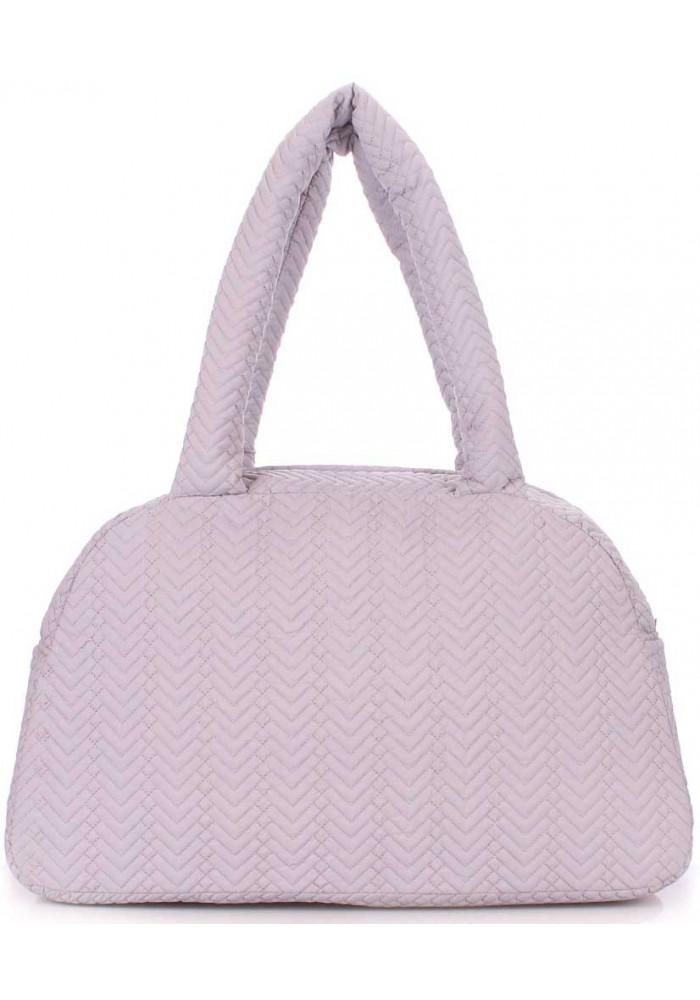 Стеганая женская сумка из ткани Poolparty Ns4 Grey Fir