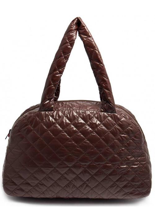 Лаковая женская сумка из ткани Poolparty Ns4 Brown