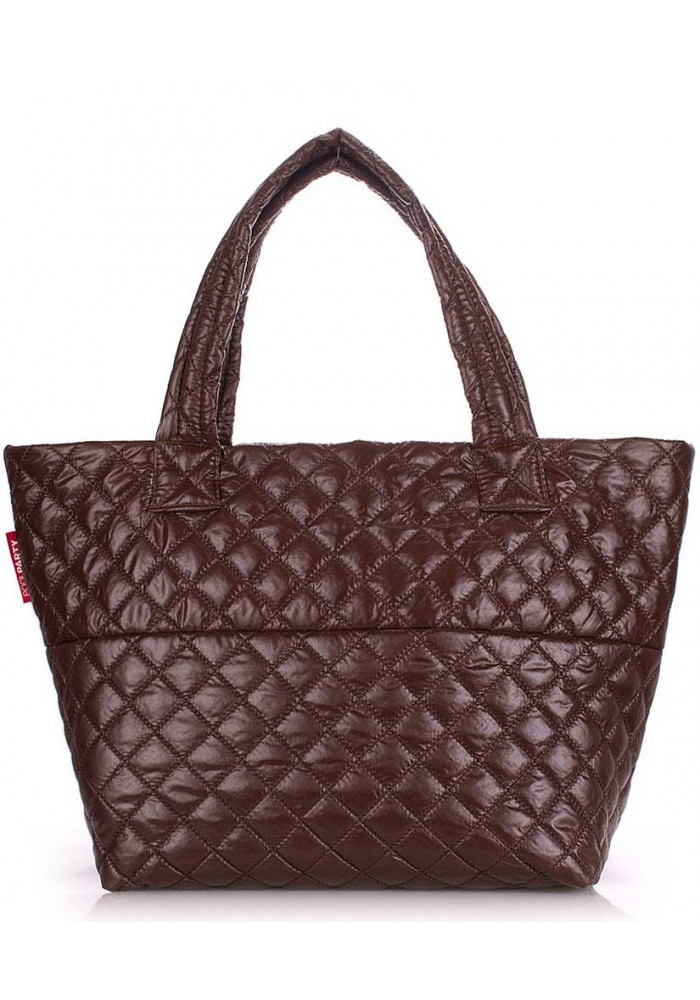 Фото Женская сумка из ткани Poolparty Broadway Quilted Brown