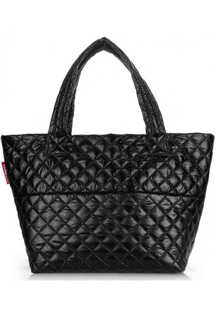 Женская сумка из ткани Poolparty Broadway Quilted Black