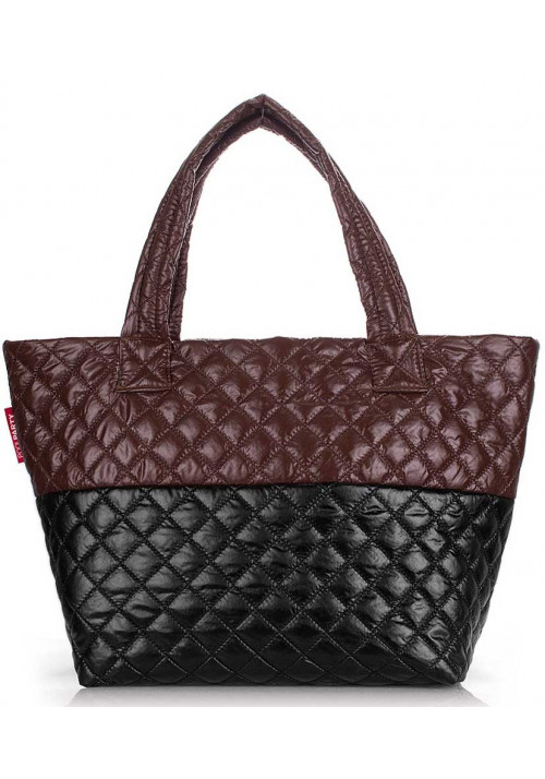 Женская сумка из ткани Poolparty Broadway Quilted Brown Black