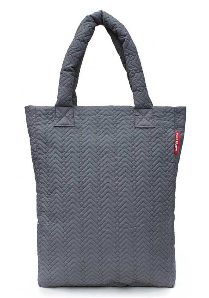 Стеганая женская сумка Poolparty NS3 Darkgrey Fir
