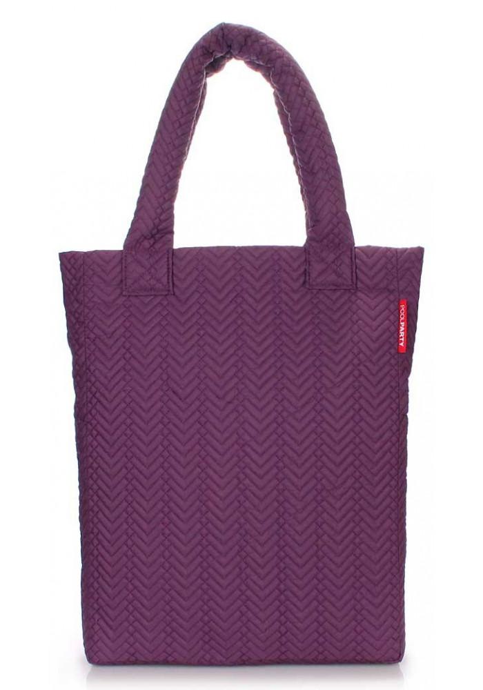 Стеганая женская сумка Poolparty NS3 Violet Fir