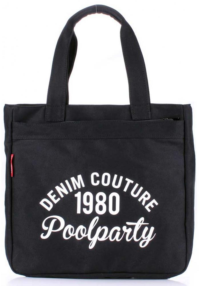 Сумка тканевая женская Poolparty Pool Old School Black