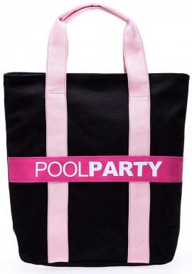 Фото Сумка тканевая женская Poolparty Pool82 Black Pink