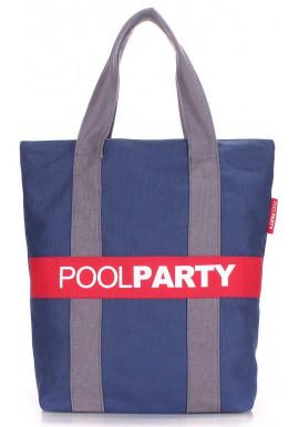 Фото Сумка тканевая женская Poolparty Pool82 Darkblue Grey Red