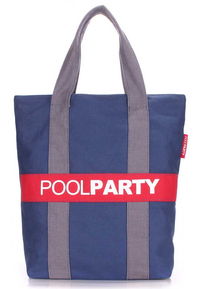 Сумка тканевая женская Poolparty Pool82 Darkblue Grey Red