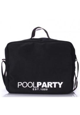 Фото Сумка тканевая молодежнаяPoolparty Pool-11 Black