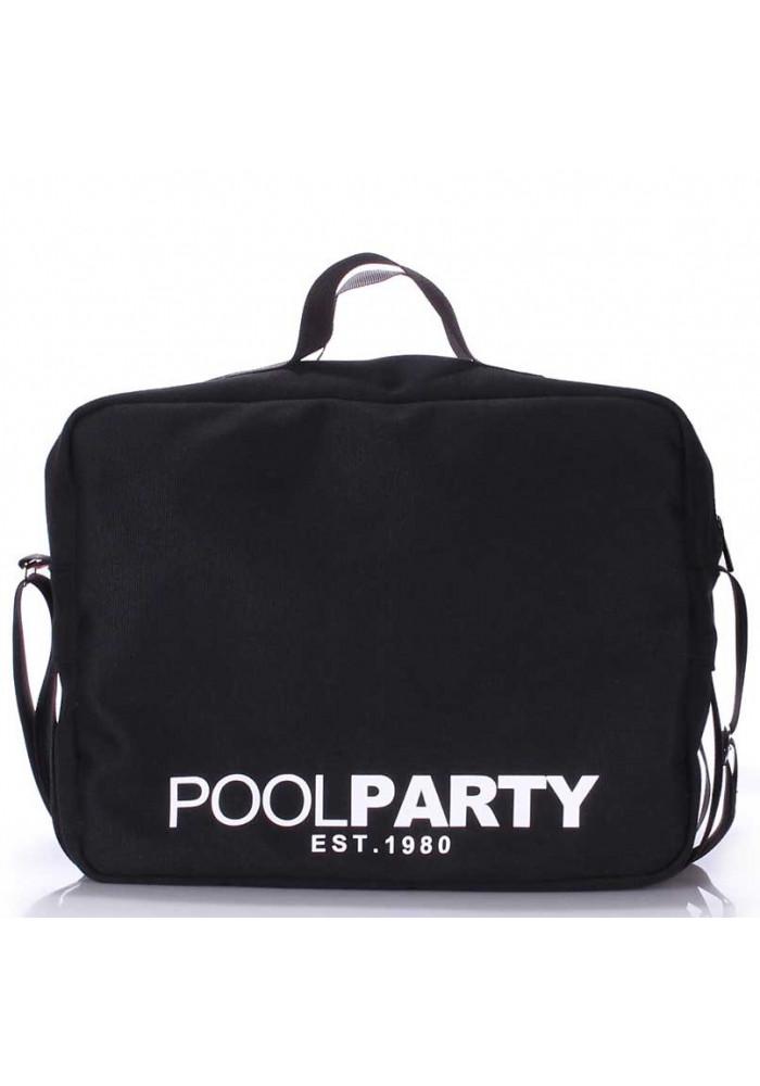 Сумка тканевая молодежнаяPoolparty Pool-11 Black