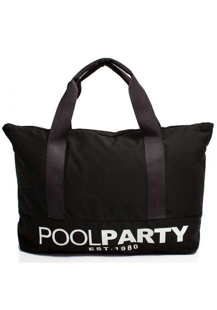 Сумка тканевая молодежная Poolparty Pool 12 Black
