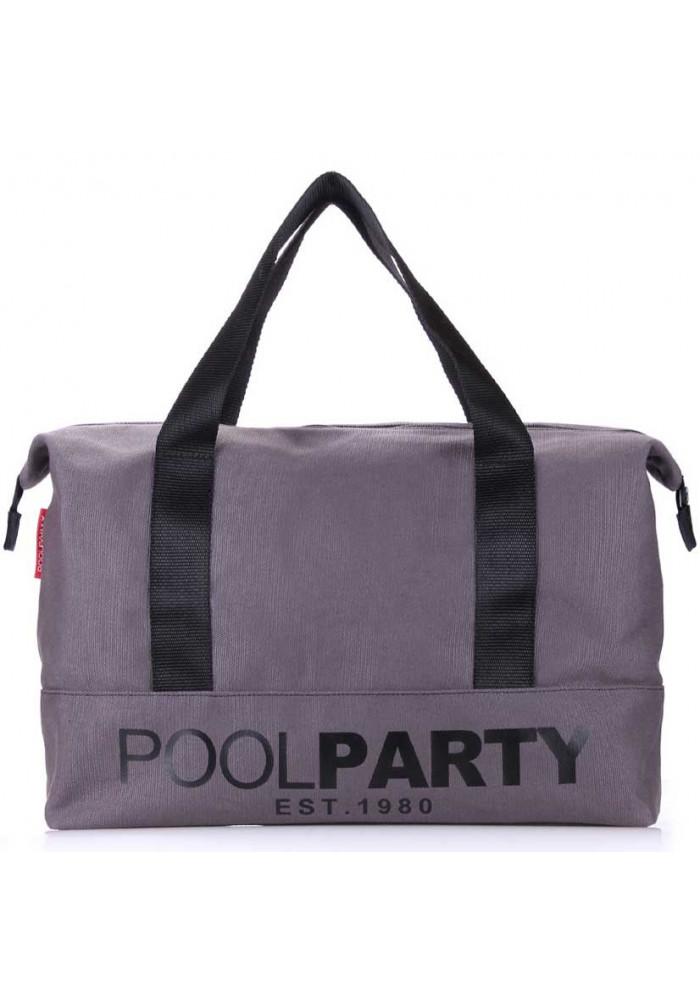 Сумка тканевая молодежная Poolparty Pool 12 Grey