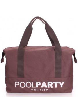 Фото Сумка тканевая молодежная Poolparty Pool 12 Brown